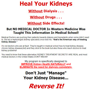 Kidney Damage Natural Treatment