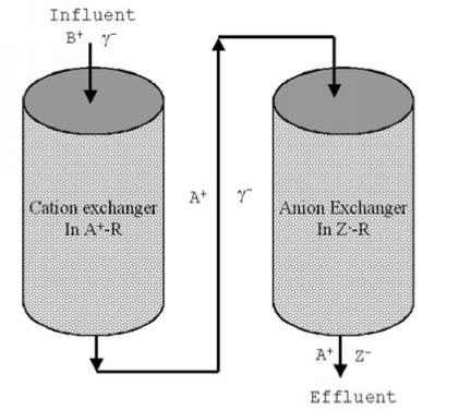 Schematic Diagram Cation Exchanger